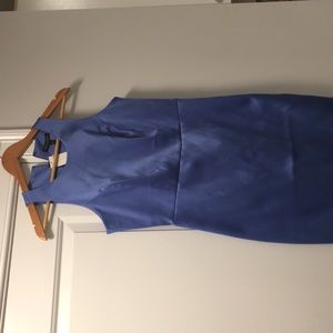 Periwinkle color Satin Stretch Cocktail Dress